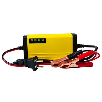 12V 2A LCD Display Smart Intelligent Charger For Motorcycle Car Battery Full Automatic Charging Adapter Lead Acid AGM GEL lcd full automatic 12v 24v smart pulse lead acid battery charger for car motorcycle
