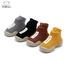 Baby Firste Shoes Boys Girls Soft Rubber Sole First Walkers Knitted Bebe Footware Waterproof Boots Newborn Infant Toddler Shoes