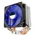 135 мм двухмедная трубка PC cpu Cooler охлаждающий вентилятор эффективные бесшумные вентиляторы для процессора Intel AMD