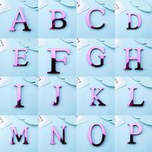 A-Z Алфавит буквы акриловые зеркальные настенные художественные наклейки английские буквы дома серебряные наклейки с алфавитом плакат для декора гостиной