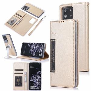 Image 1 - 隠し回転カードホルダーサムスン注 10 プラス 10 + 8 9 S8 S9 S10 プラス S7 エッジフリップレザー携帯ケースカバー
