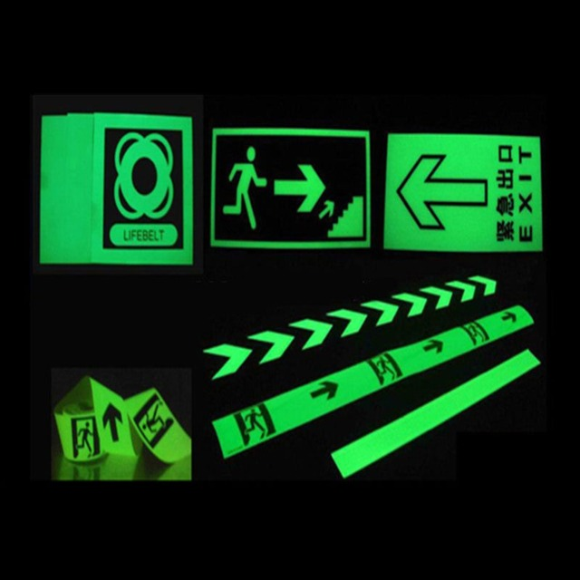 2cm*3m Luminous Fluorescent Night Self-adhesive Glow In The Dark Sticker Tape Safety Security Home Decoration Warning Tape 5