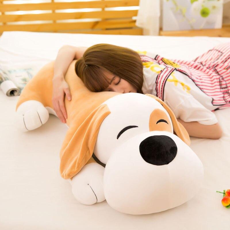 95CM nouveau doux chien en peluche vers le bas coton rembourré coussin dessin animé chiot chien oreiller mignon saint valentin cadeau pour petite amie