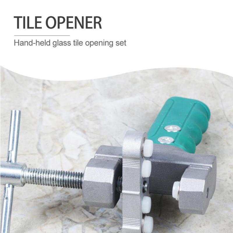 New aluminum breaker Hand Grip Tile cutter Divider glass cutter Opener Breaker Handheld Glass Tile Quick Opening Set