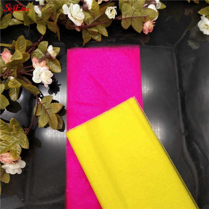 5/10m ผ้า Tulle Roll Spool Tutu คริสตัล Organza Tulle สำหรับตกแต่งบ้านทารก DIY เสื้อ Craft 48 ซม.5z