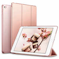 Funda de cuero inteligente para tableta para Apple Ipad Air 2 Air2 PU Wake for I Pad 6 Sleepcover Ipadstand manga de la piel A1566 A1567