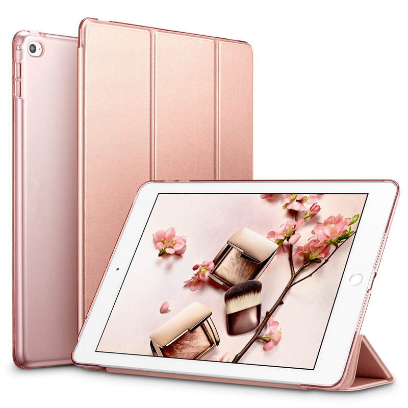 Tablet Smart Leather Stand Case Cover for Apple Ipad Air 2 Air2 PU Wake for I Pad 6 Sleepcover Ipadstand Sleeve Skin A1566 A1567 image