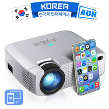 AUN FÜHRTE Mini Projektor D40W,Video Beamer für Home Cinema.1600 Lumen, Unterstützung HD, wireless Sync Display Für iPhone/Android Telefon(China)