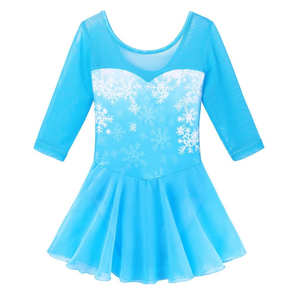 BAOHULU Toddler Ballet Leotard Blue Snowflake Leotards For Girls Gymnastics Suit Ballerina Dance Costume Kids Child Clothes