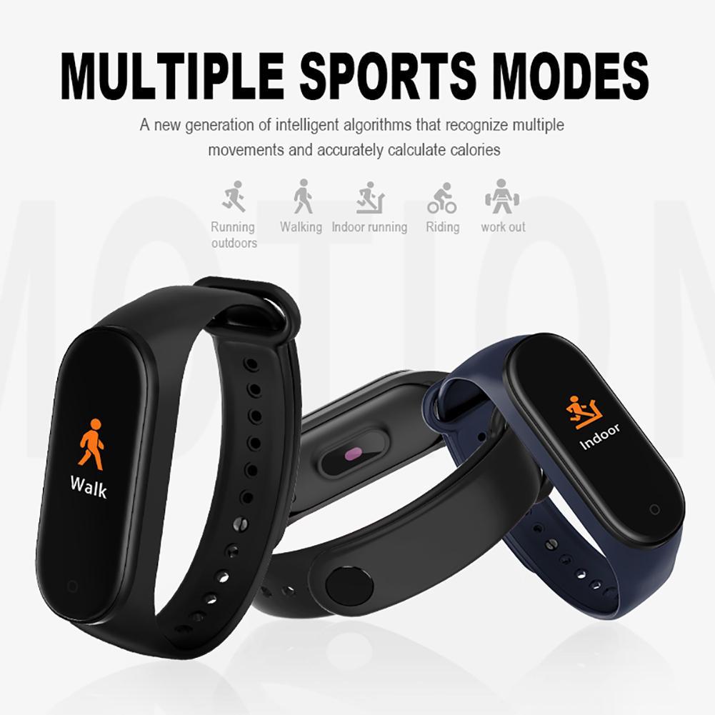 M4 bande intelligente 4 Fitness Tracker montre Sport Bracelet fréquence cardiaque tension artérielle Smartband moniteur santé bracelet PK M3 Bracelet