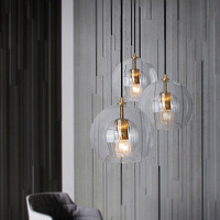 Nordic Glass Led Pendant Light Modern Kitchen Hanging Lights Bar Industrial Lamp Dining Living Room Lighting Fixtures Home Decor