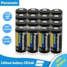 Panasonic – batterie Lithium 3v, 1550mah, CR123, CR 123A, CR17345, 16340, cr123a, pour appareil photo, nouveau, 16 pièces