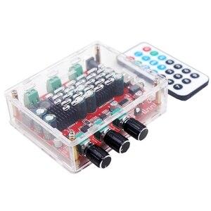 Image 4 - Subwoofer HiFi TPA3116 con Bluetooth 4,2, amplificador de potencia de Audio Digital estéreo de 2,1 canales, placa de 50W x 2 + 100W, Radio FM, USB
