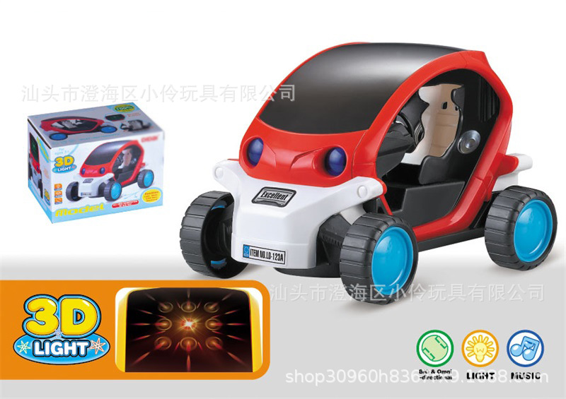 Children Electric Music Cartoon Universal CHILDREN'S Toy Car 3D Light Shining Music Car Model