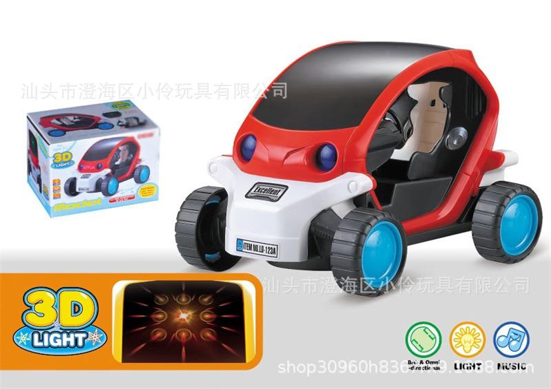 Children Electric Music Cartoon Universal CHILDREN'S Toy Car 3D Light Shining Music Car Model