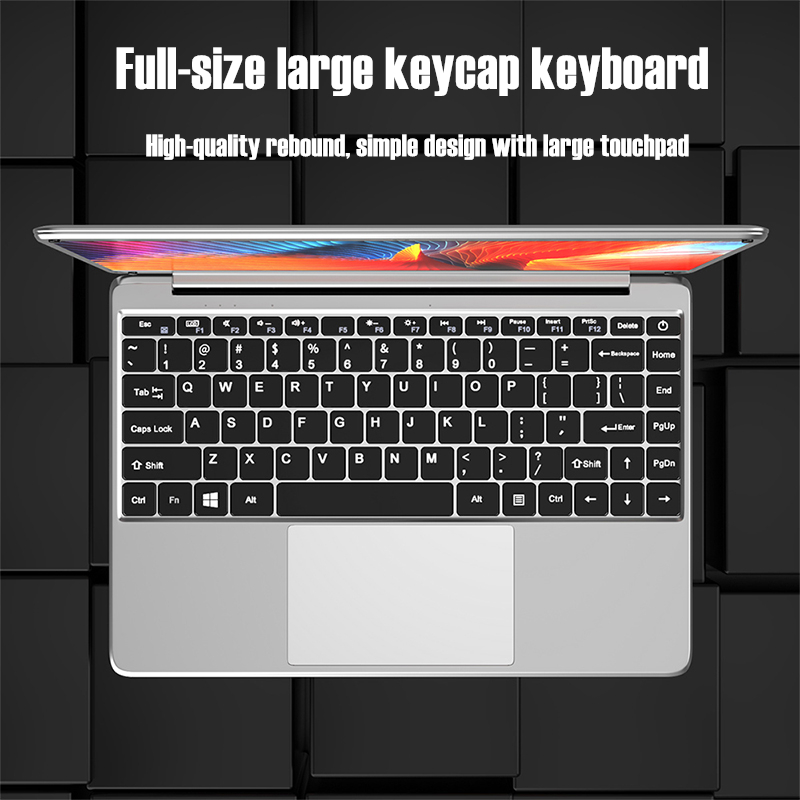 KUU KBooK 14.1 inch Intel N3350 8GB DDR4 RAM 256GB SSD Notebook IPS Laptop Full Layout Keyboard additional Sata 2.5 port 5