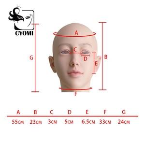 Image 5 - CYOMI Beauty Sivir أنثى اليدوية سيليكون الصف قناع رأس الجمال مصممة لمتحولين جنسيا للرقص حفلة تنكرية