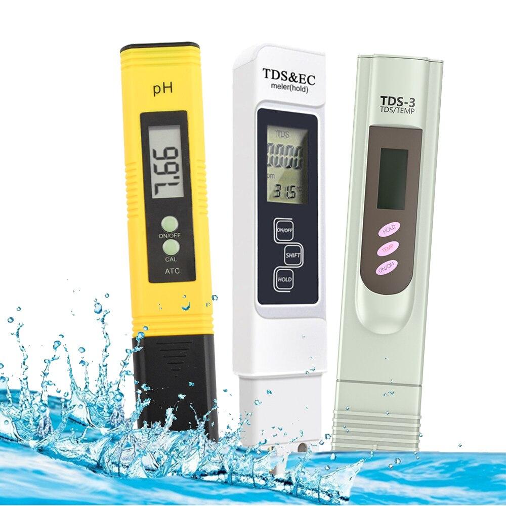 Цифровой тестер PH EC TDS, измеритель температуры и чистоты воды PPM, для гидропонных фильтров для аквариума, бассейна, монитора