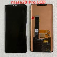 Dla Huawei mate20 pro lcd oryginalny wyświetlacz super AMOLED dotykowy bez ramki z odciskiem palca z ekranem z czarną kropką