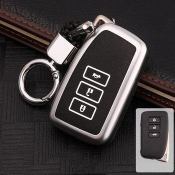 Zinc alloy luminous for Lexus NX GS RX IS ES GX LX RC 200 250 350 LS 450H 300H key cover car accessories keychain keyring new фото
