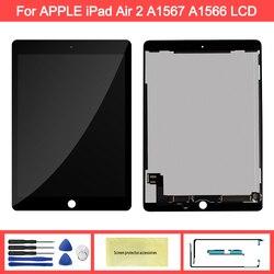 100% AAA + качественный 9,7 ''дисплей для Apple ipad 6 Air 2 A1567 A1566 ЖК-дисплей сенсорный экран дигитайзер Замена для ipad 6