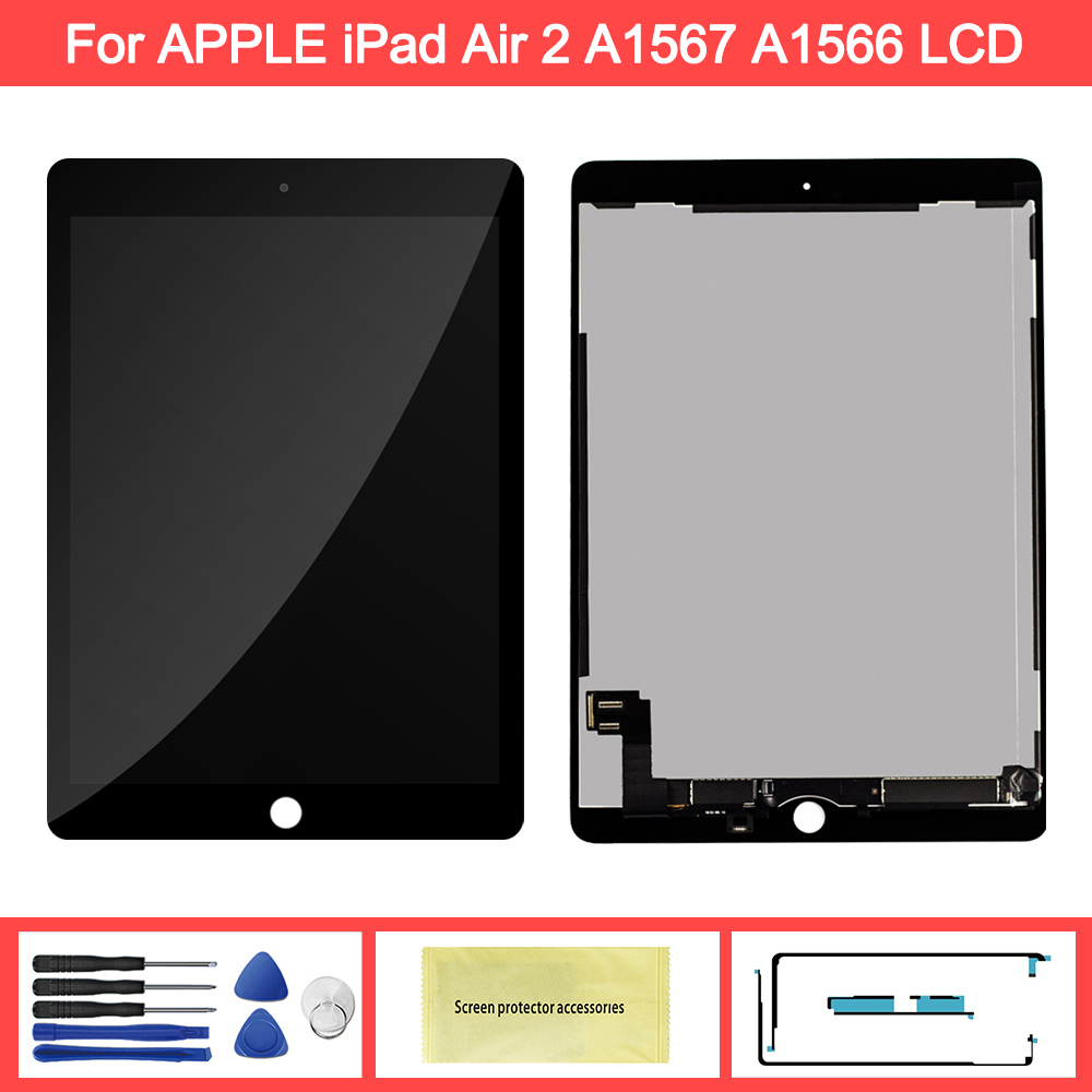 100% AAA+ Quality 9.7'' Display For Apple IPad 6 Air 2 A1567 A1566 LCD Display Touch Screen Digitizer Replacement For Ipad 6