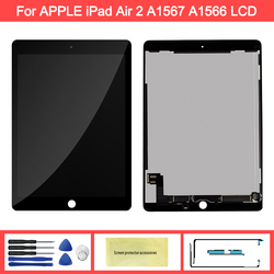100% Aaa + Kwaliteit 9.7 ''Display Voor Apple Ipad 6 Air 2 A1567 A1566 Lcd Touch Screen Digitizer Vervanging voor Ipad 6