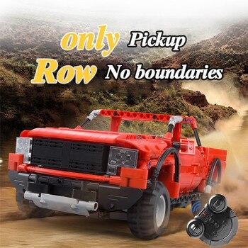 Cada 549Pcs RC 2.4Ghz Electric Pickup Trucks Model Building Blocks Car Technic SUV Vehicles Bricks Toys For Kids