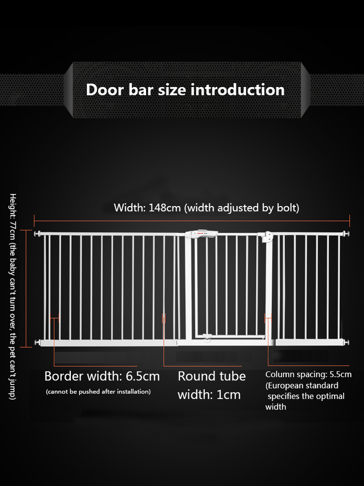 Size : Installation Width: 65-72cm Puerta del beb/é//Puerta de seguridad de valla for mascotas//ni/ño de beb/é puerta de seguridad
