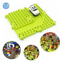 Big Assembled Building Blocks Plate City Highway Road Compatible With Brick Classic Base Plates Diy Toy Children Sets Gift