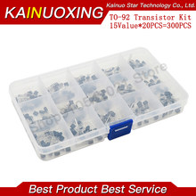 15Value TO-92 Transistor Assorted Kit 2N2222 S9012 S9013 S9014 S8050 S8550 2N3904 2N3906 2N5401 2N5551 A42 A92 A1015 C1815 13001
