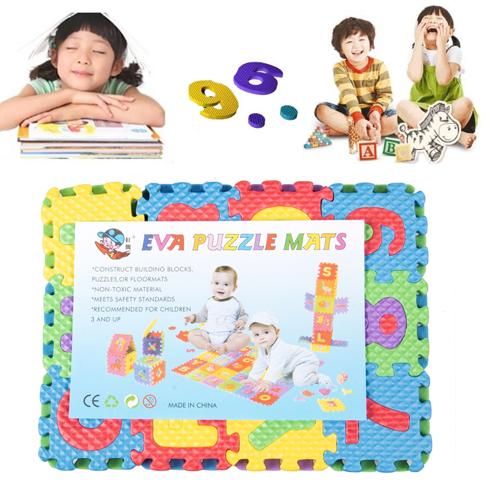 36pcs Puzzles Soft Eva Foam Baby Play Floor Mat Alphabet Numbers Kid DIY Puzzle Jigsaw