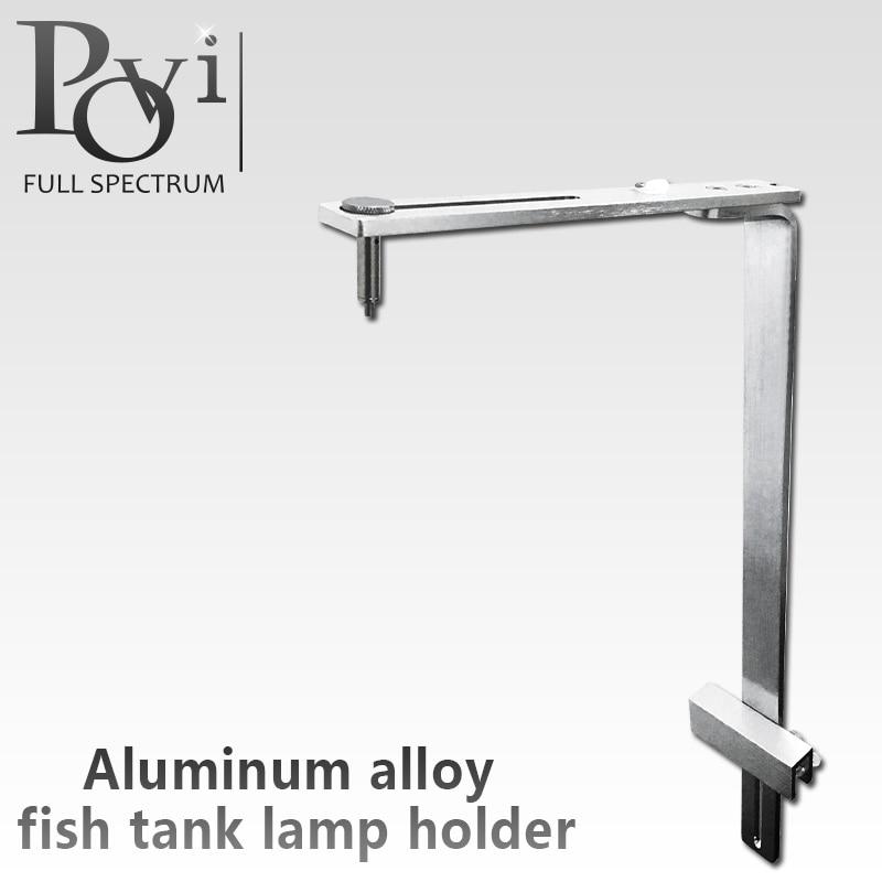 Aluminum Alloy Adjustable Height Aquarium Fish Tank Hanging Lamp Holder Support Downlight Fixed Led Grow Lights Bracket Rack