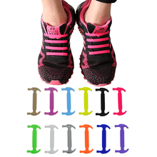 16pcs/lot Silicone Lazy Shoe Laces 14 colors Special No Tie Running Fashion Unisex Athletic Elastic Shoelace for Men Women