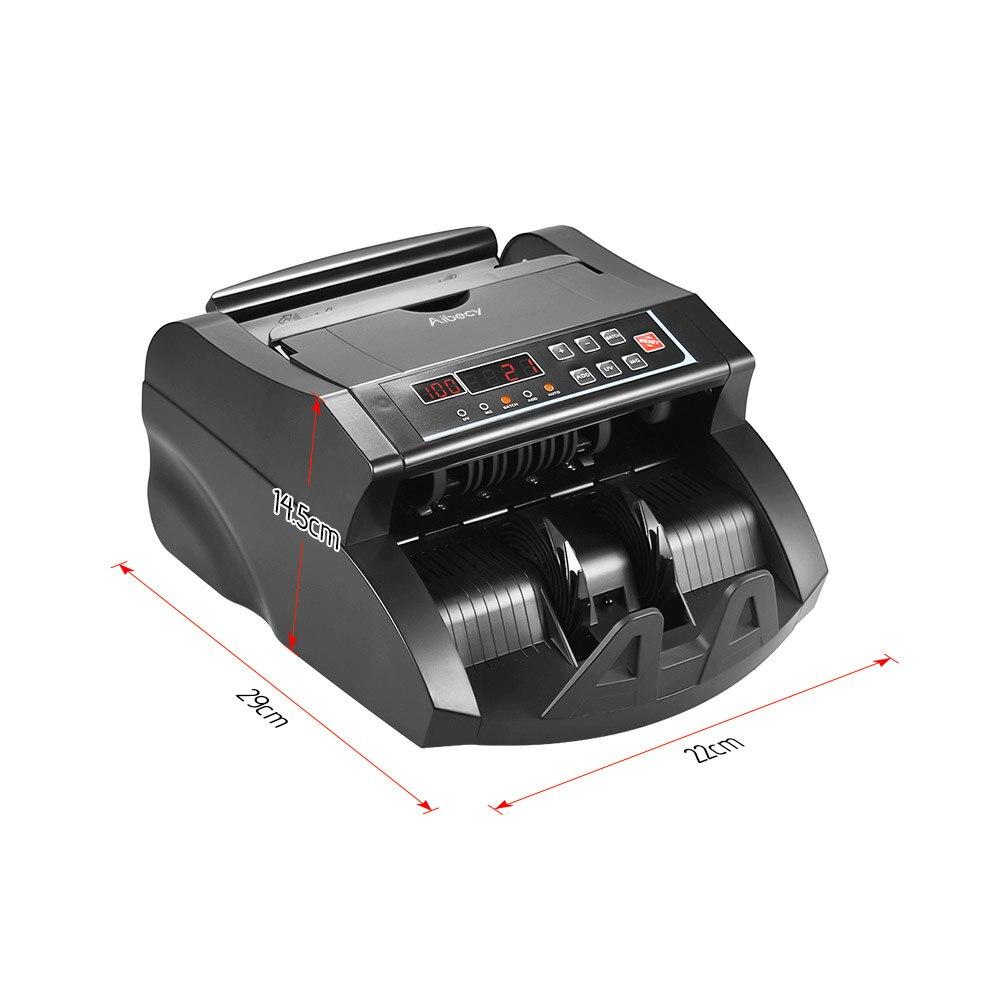 Image 2 - Aibecy multi waluta licznik banknotów gotówka pieniądze Bill automatyczna maszyna licząca IR/DD wykryj wyświetlacz LCD dla dolara amerykańskiego EuroLiczarki i testery pieniędzy   -