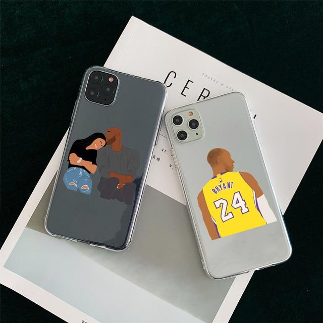 Kobe Bryant étui pour iPhone 11 Pro MAX 8 Plus SE 2020 7 6S Plus XS Max XR étui de téléphone souple Silicone clair couverture de téléphone Funda