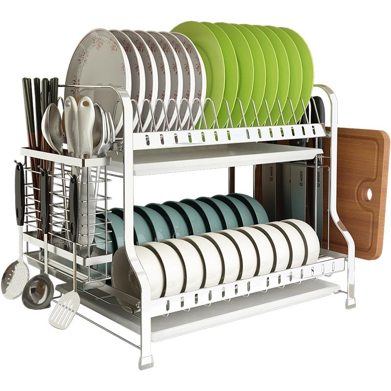 Étagères de cuisine bols en acier inoxydable, baguettes, étagères de lixiviation, vaisselle, vaisselle, vaisselle, etc.