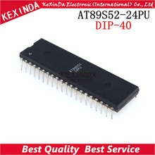 AT89S52-24PU AT89S52-24 AT89S52 DIP-40 IC 5 PCS/1 Los Freies verschiffen(China)