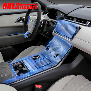 For Land Rover Range Rover Velar L560 2017 2018 2019 2020 Car Center Console Gear Full Set Interior Mouldings TPU Protector Film 1