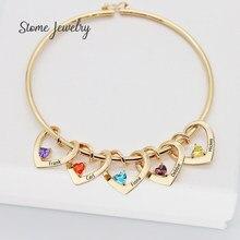 Pulseras y collar de acero inoxidable con grabado de Herat, pulseras personalizadas con diseño de su nombre de amor y coordenadas