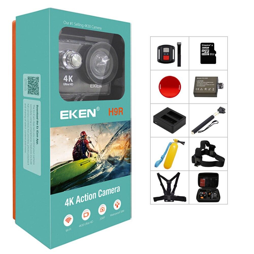 מקורי EKEN H9/H9R פעולה מצלמה 4K Ultra HD 1080p/60fps מיני קסדת מצלמת WiFi ללכת עמיד למים פרו ספורט מצלמה גיבור 7 יי 4k