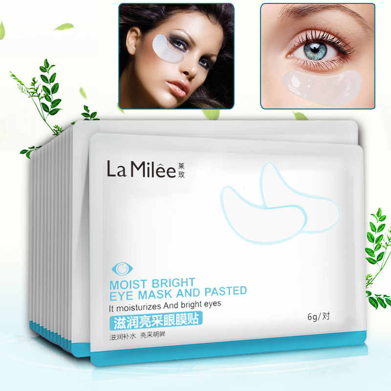 La Milee Pha Lê Mặt Nạ Mắt Collagen Crystal Mi Mắt Miếng Dán Cường Lực Chống Nhăn Độ Ẩm Dưới Mắt Đậm Vòng Tròn Tẩy Trang Mắt Miếng Dán Cường Lực