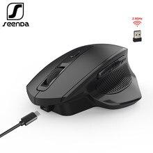 SeenDa 2,4G Drahtlose Maus Wiederaufladbare Gaming Maus für Gamer Laptop Desktop USB Empfänger Stille Klicken Stumm Mäuse