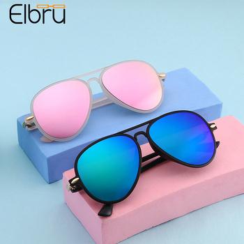Elbru Ultralight okulary przeciwsłoneczne dla dzieci moda dla dzieci okulary przeciwsłoneczne pilotki dla dzieci Outdoor UV400 okulary przeciwsłoneczne dla dziewczynek chłopcy tanie i dobre opinie CN (pochodzenie) Z tworzywa sztucznego NONE 49mm Akrylowe YJ7323 53mm