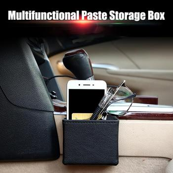 Car Organizer Box Bag Air Outlet Dashboard Hanging Leather Mobile Phone Holder Automobile Vehicle Storage Bucket Car Accessories image