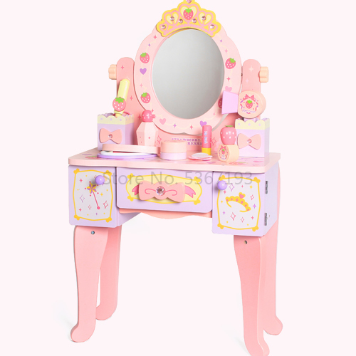 Girl Gift House Dresser Children Kitchen Toys Simulation Princess Makeup Box Suit 3456 Year