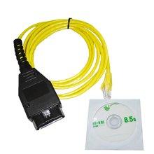 Интерфейсный кабель Ethernet-OBD, высокая производительность, стандартное кодирование F-серии для BMW ENET, 2 м, диагностический сканер кодов неиспра...
