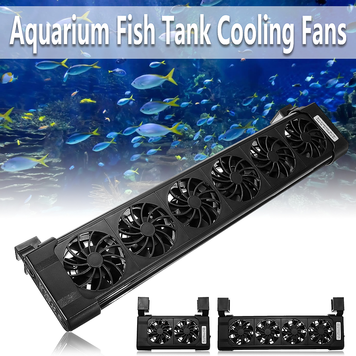 Adjustable Submersible Aquarium Cooling And Cooling Fan Aquarium Cooling Low Noise Radiator With Protection Net 2/3/4/5/6 Head