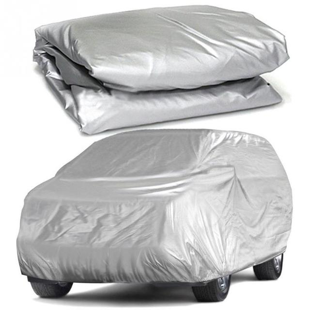 Universal Full Car Covers Snow Ice Dust Sun UV Shade Cover Light Silver Size S XL Auto Car Outdoor Protector Cover