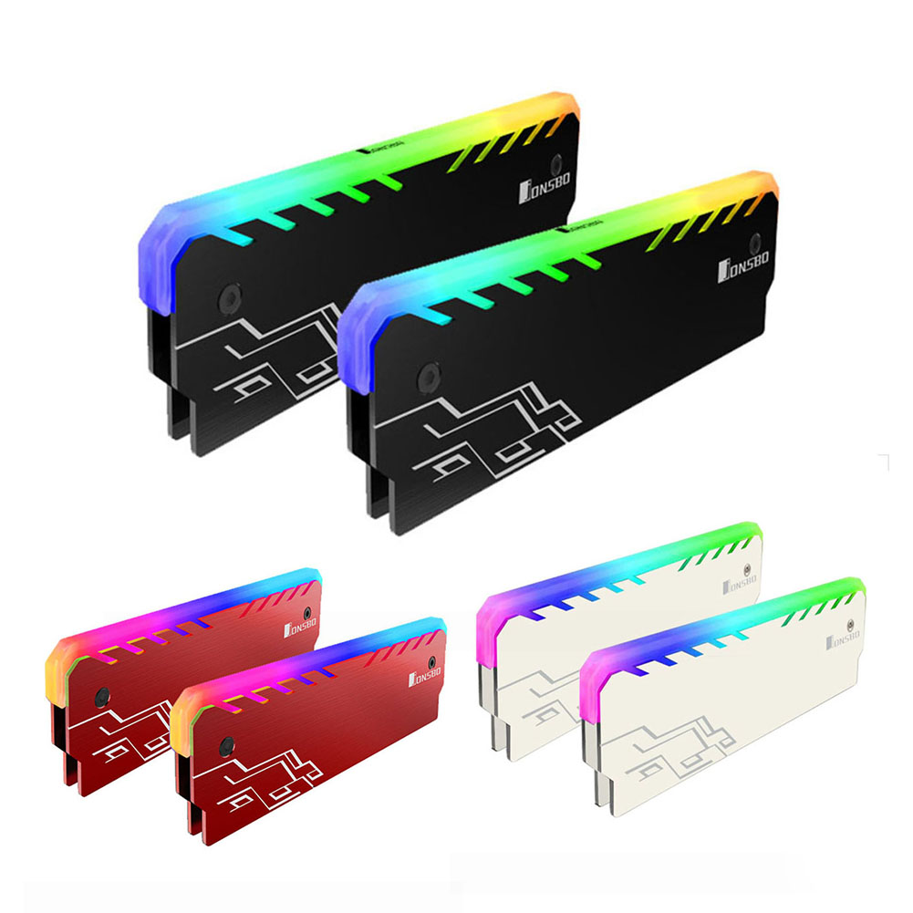 Jonsbo NC-1 теплоотвод ОЗУ кулер RGB 256 Цвет ПК памяти охлаждения жилет радиатора Для DDR DDR3 DDR4 настольных ПК оперативной памяти